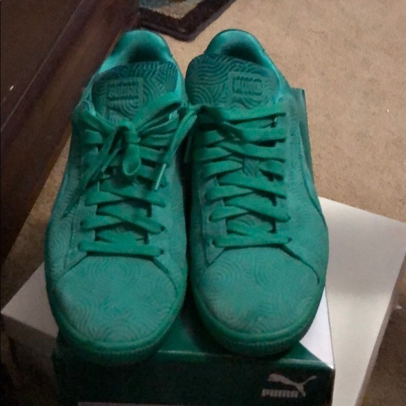 Puma Shoes | Turquoise Sneakers | Poshmark